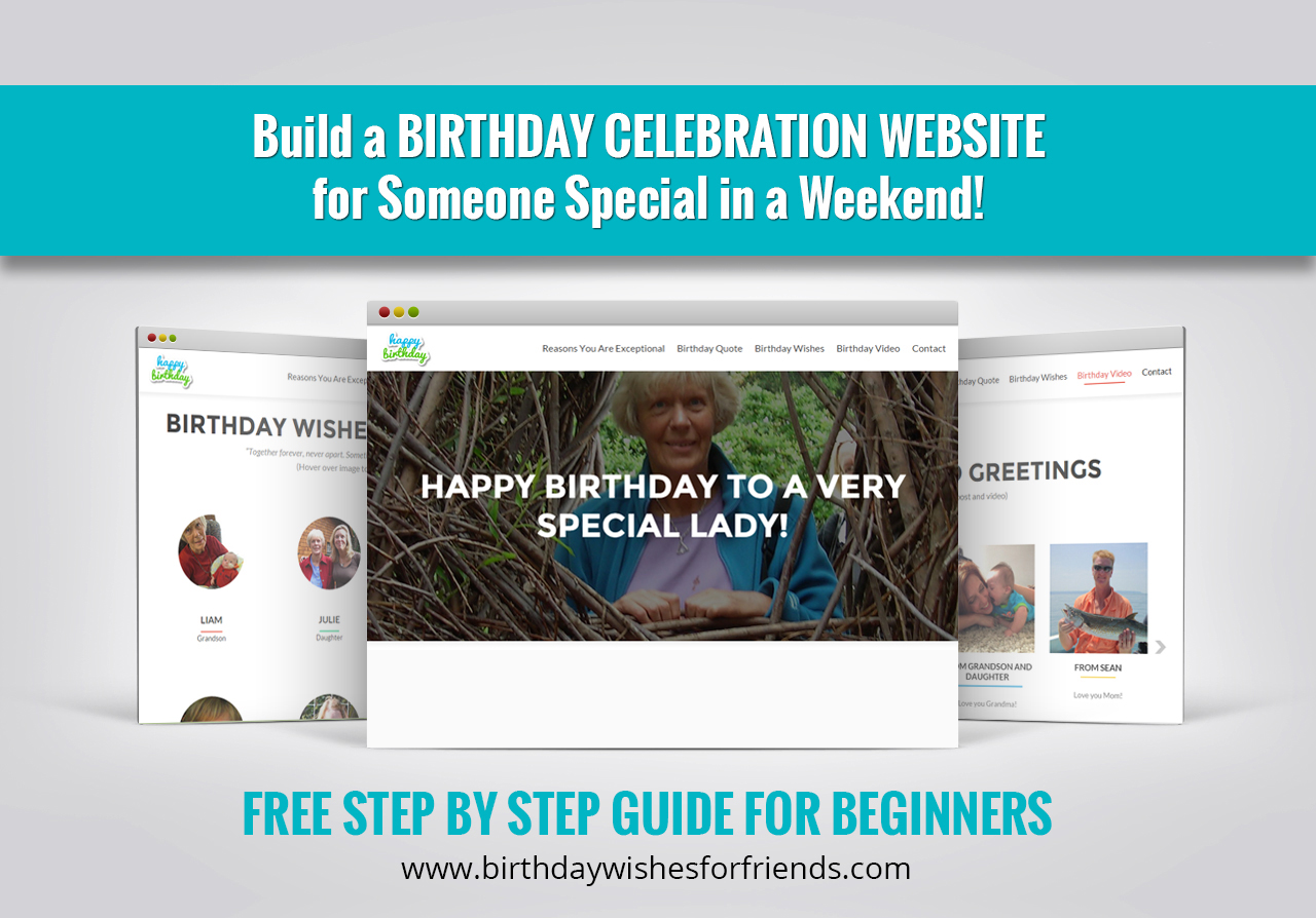 Create a Personalized Birthday Website