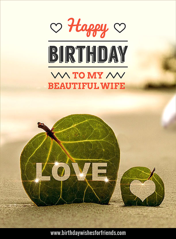 Birthday Wishes to Wife