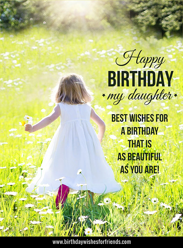 Happy Birthday My Daughter