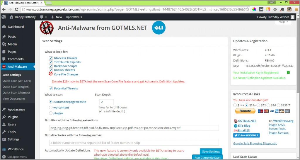 anti-malware run complete scan
