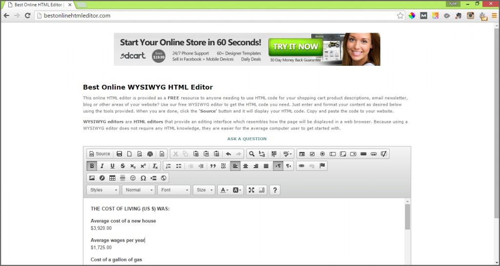 best online html editor
