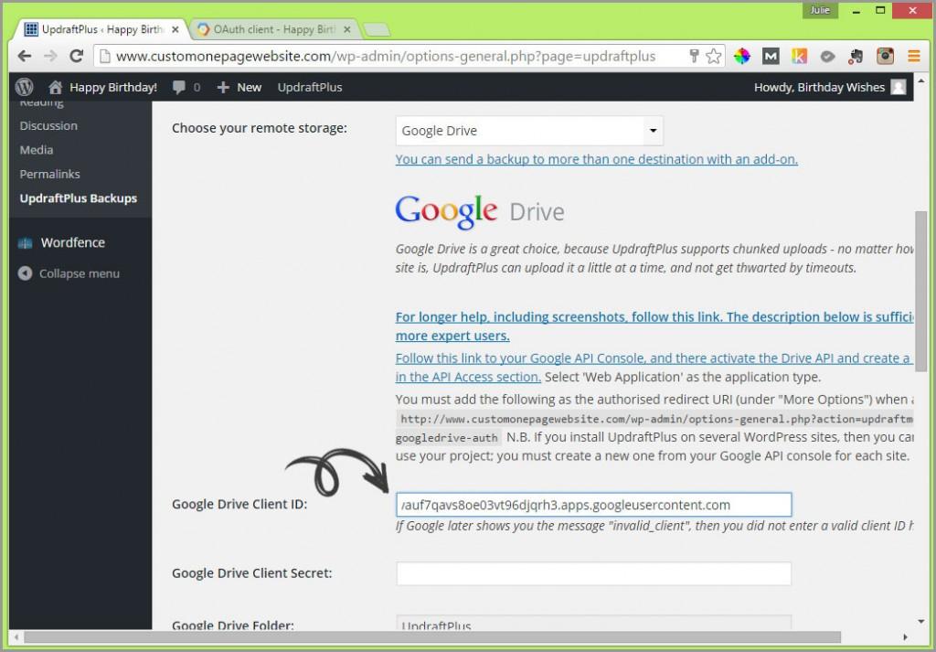 google drive client id