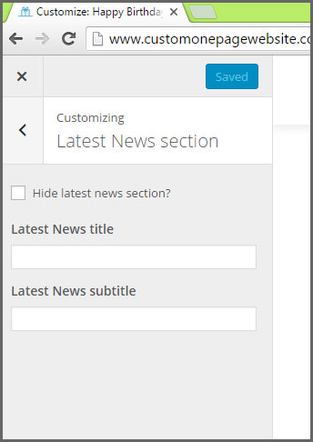 latest news section sub menu