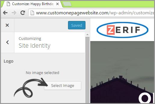 site identity logo change