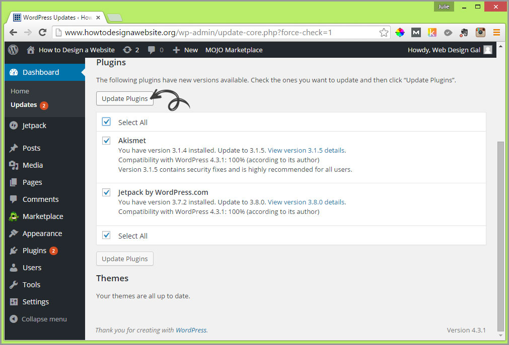 update plugins example