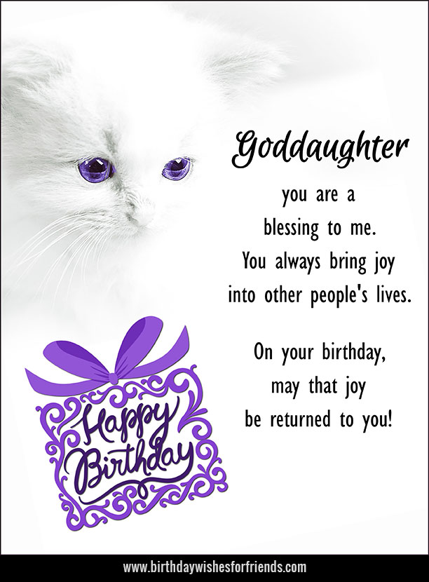 Happy Birthday Goddaughter