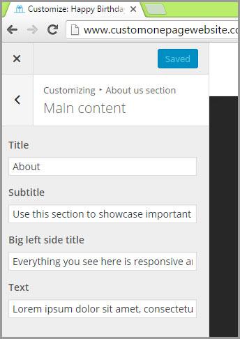 about us main content menu