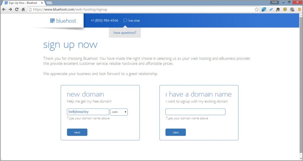 Add a domain name