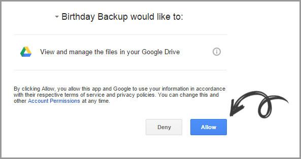 google allow