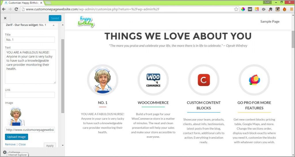 our focus widget changed