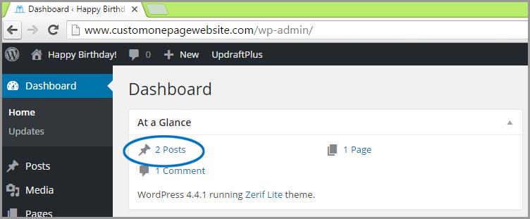 wordpress post dashboard