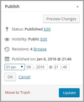 posts publish date