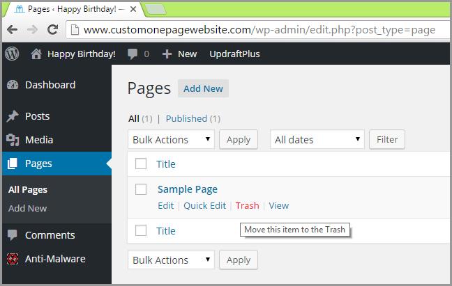 wordpress post sample page