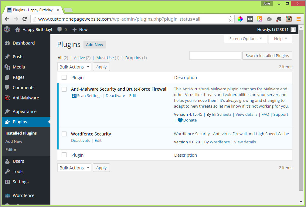 security wordpress plugins